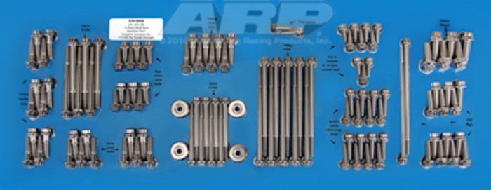 ARP GM LS Engine & Accessories Stainless Hex Bolt Kit 534-9605