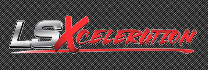 LSXceleration 2' x 6' Carbon Fiber Background Banner