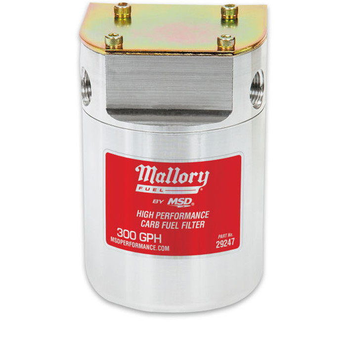 Mallory Low Pressure Carb Fuel Filter 29247 - 300 GPH