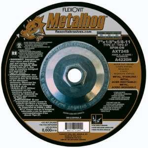 "METALHOG by Flexovit A4220H 7""x1/8""x5/8-11 AXT24S  -  RAPID CUT, GRIND Depressed Center Combination Wheel"