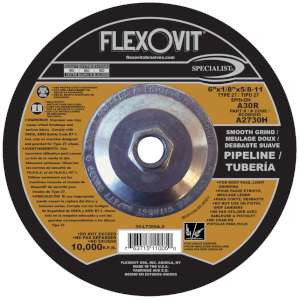 "SPECIALIST by Flexovit A2730H 6""x1/8""x5/8-11 A30R  -  SMOOTH GRIND Depressed Center Combination Wheel"