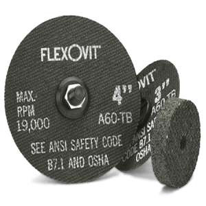 "HIGH PERFORMANCE by Flexovit F0379 3""x1/2""x3/8"" A36Q  -  FAST GRIND Reinforced Die Grinder Grinding Wheel"