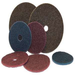 """HIGH PERFORMANCE by Flexovit H0075A 5"""" HOOK & LOOP GENERAL PURPOSE COARSE BROWN Surface Conditioning Disc"""
