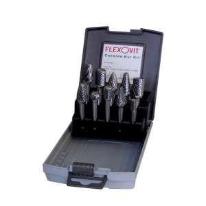 HIGH PERFORMANCE by Flexovit VZKIT10 TEN PIECE BUR KIT Easy to handle and portable Bur Display Case