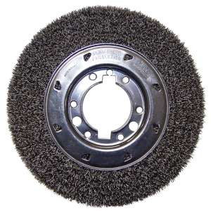 "HIGH PERFORMANCE by Flexovit C1030P 8""x1""x5/8"";1/2"" .014 CARBON CRIMPED Wire Wheel Brush/Clamshell"