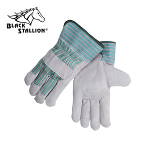 Revco Black Stallion 5BE Gray Split Cowhide Leather Gloves Qty 12