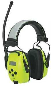 Howard Leight AM/FM Radio Earmuffs, Hi-Vis