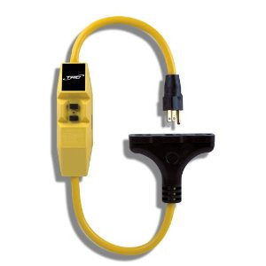 12/3 TRI-TAP EXTENSION CORD WITH GFCI, 2 FT, YELLOW