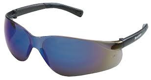 BearKat Protective Glasses, Blue-Mirror Polycarbonate Scratch-Resistant Lenses