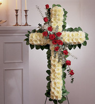 Standing Cross with Roses