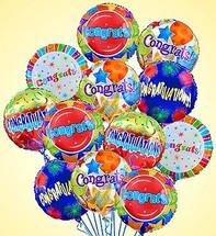 One Dozen Congratulations Mylar Balloons
