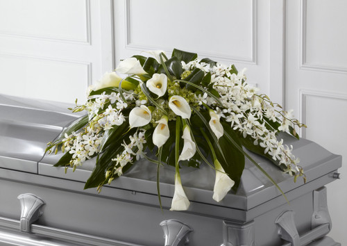 The Angel Wings Casket Spray