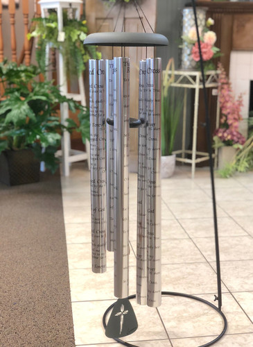 """Wind Chime 55"""" with Verse. Sayings vary. (LOCAL DELIVERY ONLY) Stand not included"""