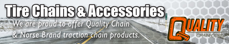 Tire Chains & Accessories - We are proud to offer Quality Chain & Norse Brand traction chain products.