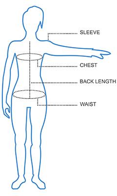 Womens Jacket Size Chart