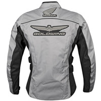 Honda Collection Women's Goldwing Textile Touring Jacket Gray Back