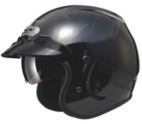 GMax GM32S Open-Face Helmet Black