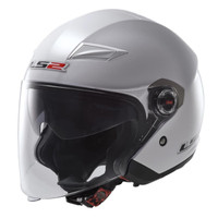 LS2 Track 569 Pearl White Open Face Helmet