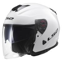 LS2 Infinity White Open Face Helmet 1
