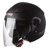 LS2 Track 569 Matte Black Open Face Helmet