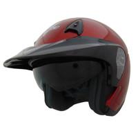 Vega VTS1 Open Face Helmet Red