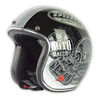 Vega X-380 Old Skool Helmet Chrome