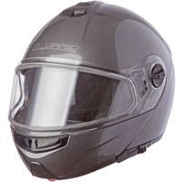 LS2 Strobe Gunmetal Modular Snow Helmet with Dual Shield