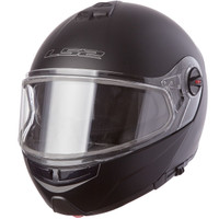 LS2 Strobe Matte Black Modular Snow Helmet with Dual Shield