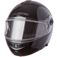 LS2 Strobe Black Modular Snow helmet with Dual Shield