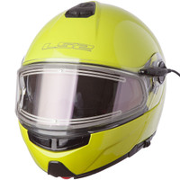 LS2 Strobe Hi-Viz Yellow Modular Snow Helmet with Electric Shield