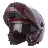 LS2 Strobe Wineberry Modular Helmet Red