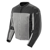 Joe Rocket Velocity Mesh Textile Jacket Silver Front Side View