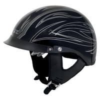 AFX FX-200 Gloss PinStripe Beanie Helmet  Silver