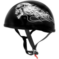 Skid Lid Biker Skull Half Helmet