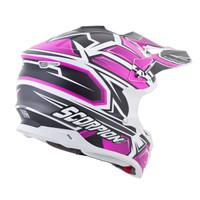 Scorpion VX-35 Finnex Helmet Pink Back View