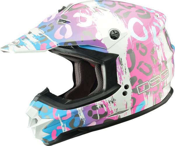 GMax DSG GM76X Leopard Helmet  Pink