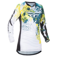 Fly Racing Girl's Kinetic Jersey Yellow