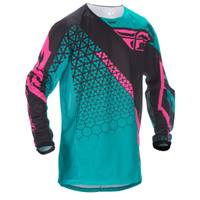 Fly Racing Kinetic Trifecta Mesh Jersey Blue