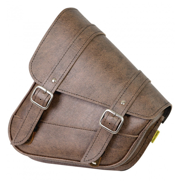 Willie & Max Revolution Universal Hidden Swingarm Saddlebags Brown