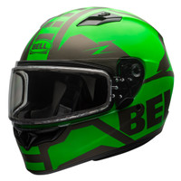 Bell Qualifier Momentum Snow Helmet with Dual Shield Green