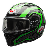 Bell Qualifier Machine Snow Helmet with Electric Shield Green