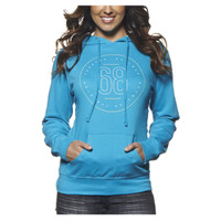 Thor Women's Button Pullover Hoody Blue