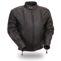 First Classics Fc Men Motorcycle Cowhide Leather Jacket