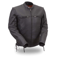 First Classics Mens Motorcycle Jacket with Removable Sleeves