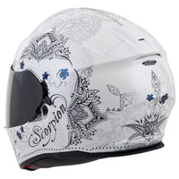 Scorpion EXO-T510 Azalea Helmet White Back View