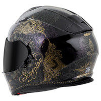Scorpion EXO-T510 Azalea Helmet Black Back View