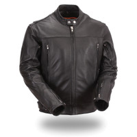 First Classics Soft Naked Cowhide Mens Motorcycle Jacket