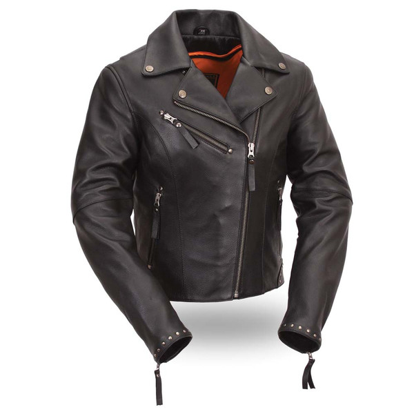 First Classics Women Naked Leather Motorcycle Jacket