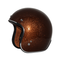 Zox Route 80 Vintage Metal Flake Open Face Helmet Root Beer Main View