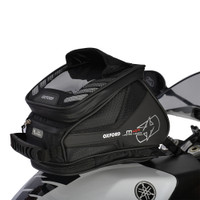 Oxford M4R Tank N Tailer Tank Bag Black On Tank Main View